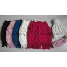 Nuevo estilo de invierno de señora Winter Warm Knitted Acrílico