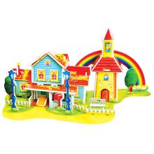 Rompecabezas de la casa arco iris 3D