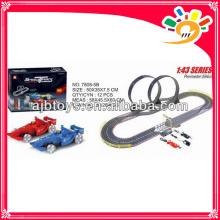 1 43 elektrische Kinder Spielzeug Rennstrecke lange Gleis Spielzeug Auto mit Hand Generator