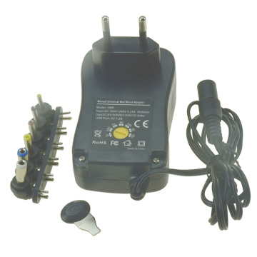 18W Universal AC Adapters Multi Voltage for Electronic