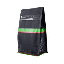 Custom Logo Design Print 250g 340g 500g Matt UV Coating Ground Coffee Flat Bottom Valve Pouches Bag