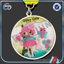 cute glitzy girls cartoon medal