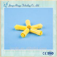 CE e ISO aprovados médica descartáveis amarelo ou transparente Heparina Cap para cânulas IV cânulas