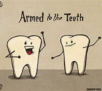 arm to teeth