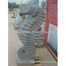 Lovely Sea Horse Stone Carving