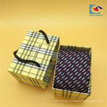 Изготовленные на заказ роскошные портативный ящик скольжения подарка галстука упаковывая с ручкой