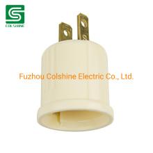 Plug-in Light Socket E26 Lamp Holder Adapter Converts Lamp Socket