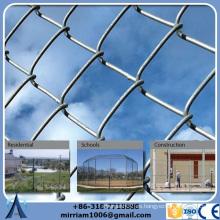 Venta al por mayor en tierra de hierba usada de China usando la cerca negra desprendible del acoplamiento de cadena