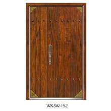 Porte en acier en bois (WX-SW-152)