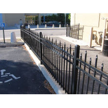 Solid Structure Powder Coated Residential Steel Fence