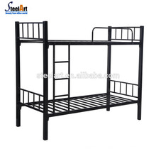 Double metal bed design furniture with school dormitory