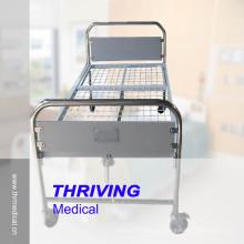 Lit d'hôpital manuelle à manivelle unique à vendre (THR-MB142)