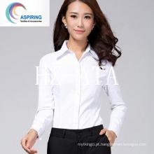Tela Tecido Penteado tecido de poliéster / algodão para mulheres T-shirts