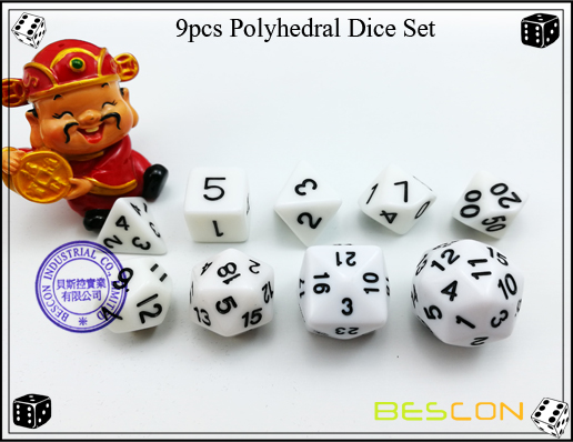 9pcs Polyhedral Dice Set-21