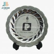 Высокое качество Оптовая продажа высечки, античное серебро пользовательские пластины для сувенира