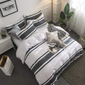Cotton Percale sợi nhuộm Duvet Cover