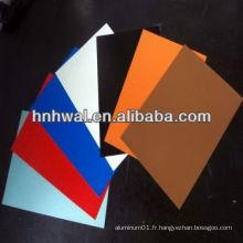 Feuille d'aluminium prépainée pour matériaux de construction