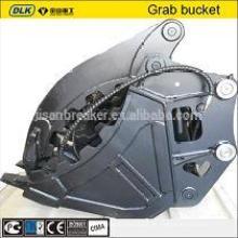 Bagger montiert Daumen Grappl hydraulischen Daumen Eimer