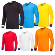 sublimação barato personalizado espanha uniformes de futebol de manga comprida / futebol jersey / camisa de futebol goleiro atacado