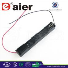 Daier soporte de batería largo 3v con cable largo 2 aa soporte de batería
