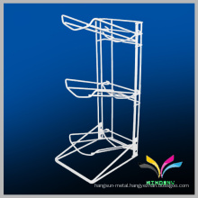 Foldable wire storage display 5 gallon water bottle stand