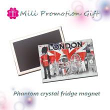 Hot Sale Phantom Crystal Custom Tin Plate Fridge Magnet