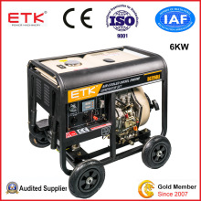 6kw Open Type Diesel Portable Generator with Yellow Colour