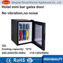 Mini refrigerador de la puerta de vidrio de 30 litros