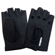 Мужская мода без пальцев Натуральная кожа перчатки для вождения (YKY5026)
