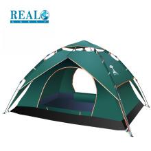 Atacado de alta qualidade dobrável camadas duplas 3-4 pessoas família barraca de acampamento para atividades ao ar livre