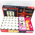 Hot selling 100pcs white tealight candle with aluminum holder for festival