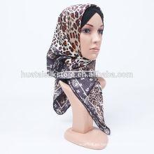 La nueva seda pura del diseño 2014 imprimió el headwear musulmán