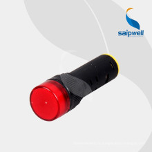 Le CE de prix de gros de la Chine a diplômé le rouge 16mm 12V LED de voyants lumineux 12V