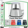 Tamborete móvel da etapa do pontapé do rolamento plástico plástico resistente