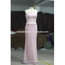 Elegance media manga púrpura oscuro plisado madre de la novia vestido