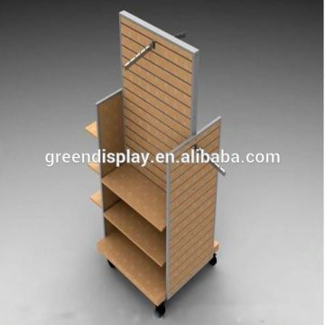 Free standing slatwall display stand