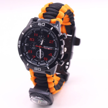 فلينت كومباس جير واتش Paracord Survival Watch
