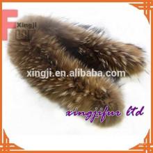 bonne qualité chinois naturel ou teint couleur peau de raton laveur vraie fourrure de raton laveur garniture pour capuche