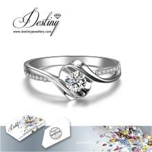 Destino joias cristal de Swarovski novo anel Rose