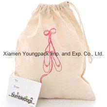 Promocional Personalizado 100% Natural de algodón traje de dibujo-String Shoe Dust Bag
