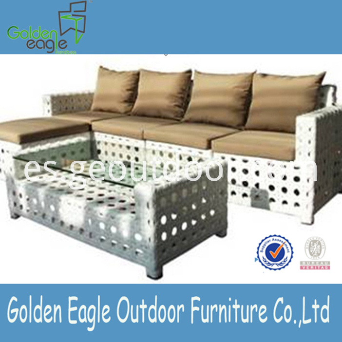 PE Wicker Outdoor Sofas Furniture