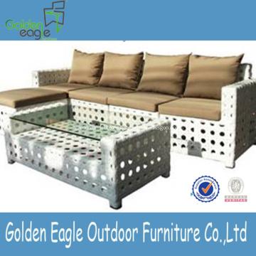 Venta caliente diseño especial rattan sofá conjunto
