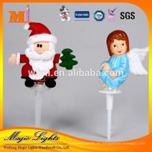 Linda decoración de pastel de Navidad de plástico Santa Claus