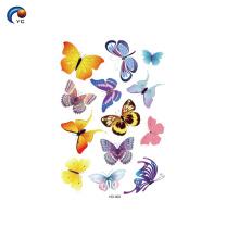 Temporärer Aufkleber des Schmetterlinges für Dame zum Dekorationskörper