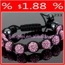 pulseira shamballa rosa
