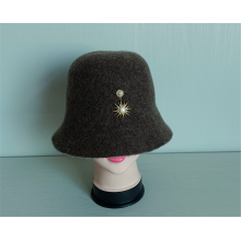 Casual Knitted Hats 100% Wool Bucket Basin Cap