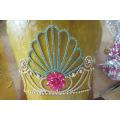 Оптовый модный перламутровый крупный конкурс короны с полной высокой персонализированной короной тиары