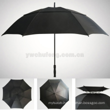 100% complete fiber LOGO customized wholesale real double layers windproof golf umbrella