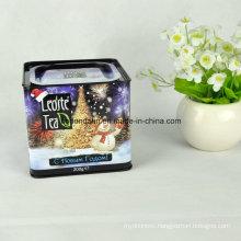 Custom Made Square Metal Tea Tin Box with Airtight Lid