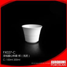 China por mayor de ronda forma porcelana no tazas asa